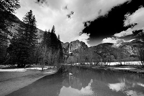Upper Yosemite Fall from Swinging Bridge