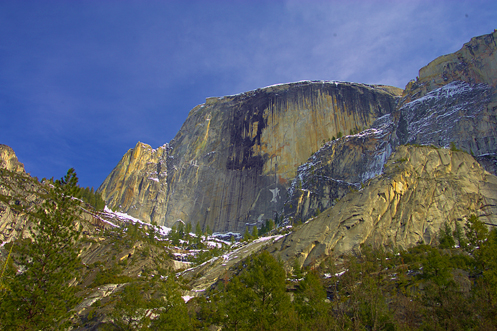 The view of Half Dome from Mirror Lake