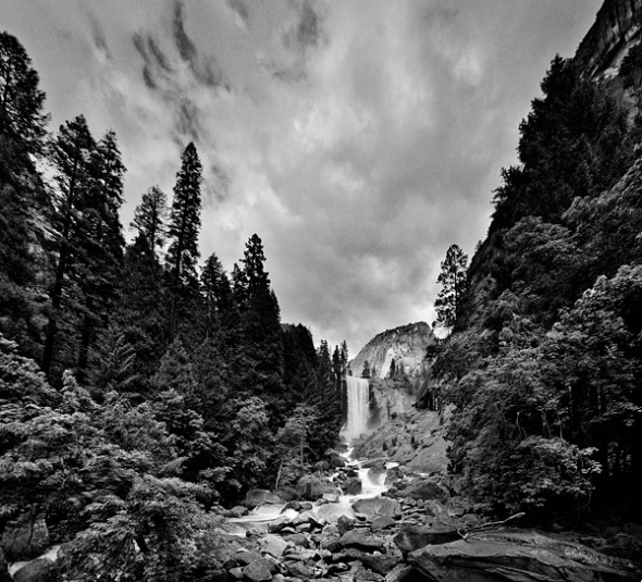 Vernal Fall shot from the flat rock w/ an 18mm lens