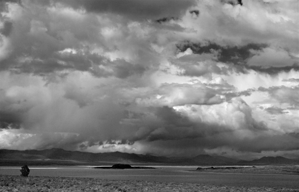 The clouds were incredible over Mono Lake