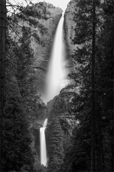 Timed exposure of Lower Yosemite Fall