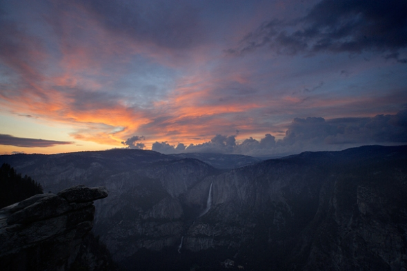 Obviously looking to the west at sunset from Glacier Point