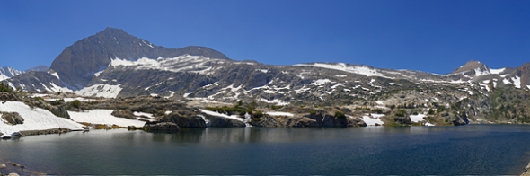 Steelhead Lake in the Hoover Wilderness with Mt. Conness in the background.