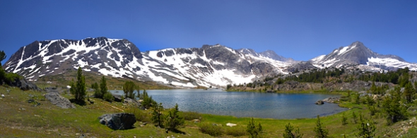 Wide angle of Greenstone Lake