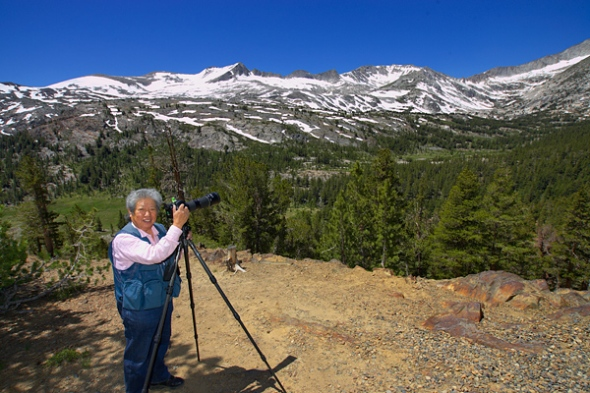 Shiro Tenaka from Japan was the lone participant who received private instruction on shooting in Yosemite!