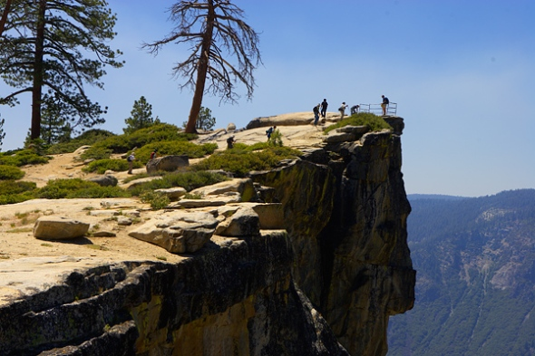 The Taft Point overlook.