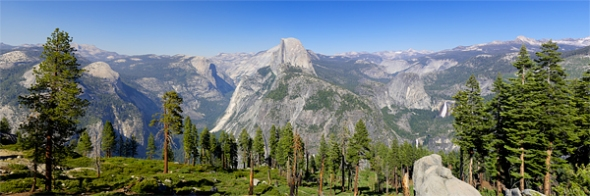 Half Dome from Glacier Point Road